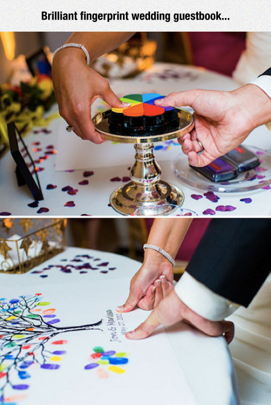 Clever Wedding Guestbook Idea