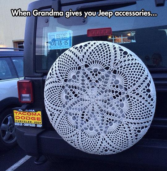 Crochet Wheel Cover Win