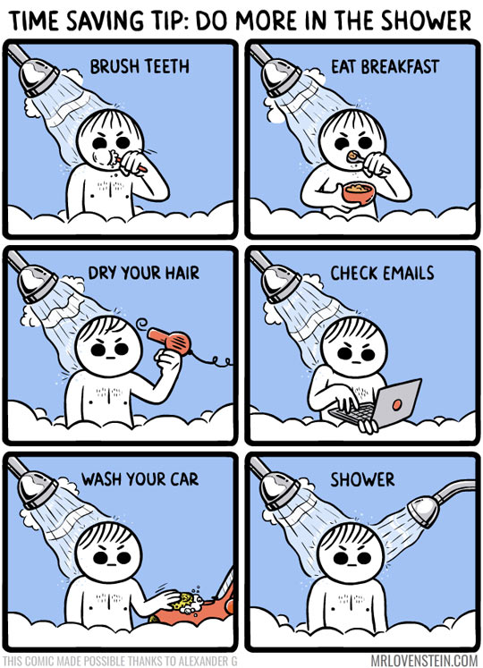 Do More In The Shower