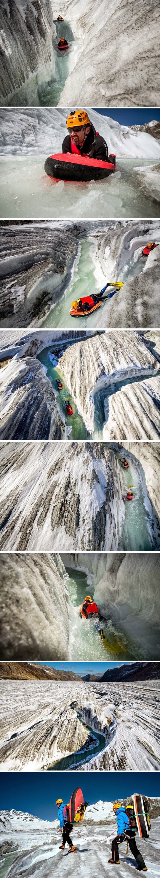 When You Turn A Glacier Into A Water Slide