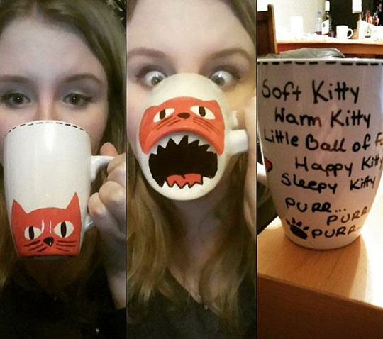 DIY Kitty Sharpie Mug