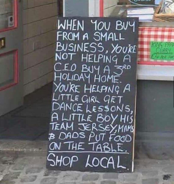 A different perspective about shopping local
