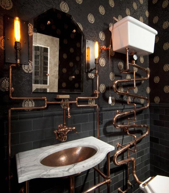 Beautiful Steampunk Bathroom