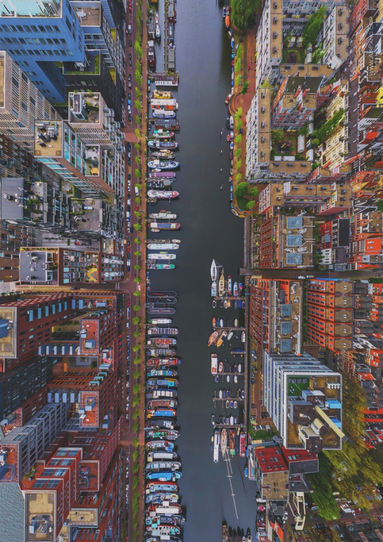 Birdseye View of Amsterdam