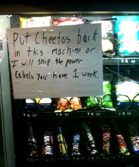 Bring Back The Cheetos