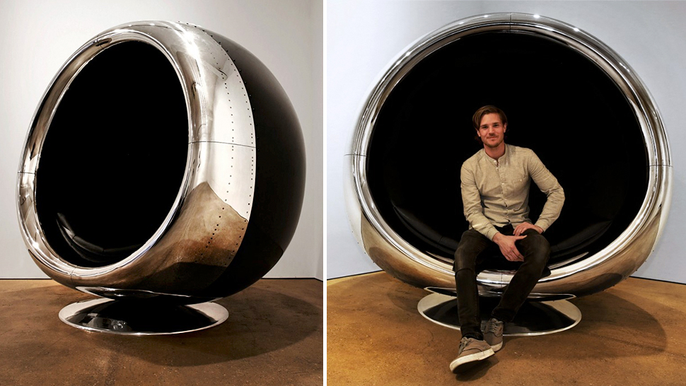 Chair made out of a 737 jet engine