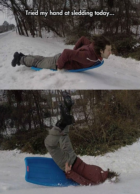 Face Sledding Doesn't Seem Like A Good Idea