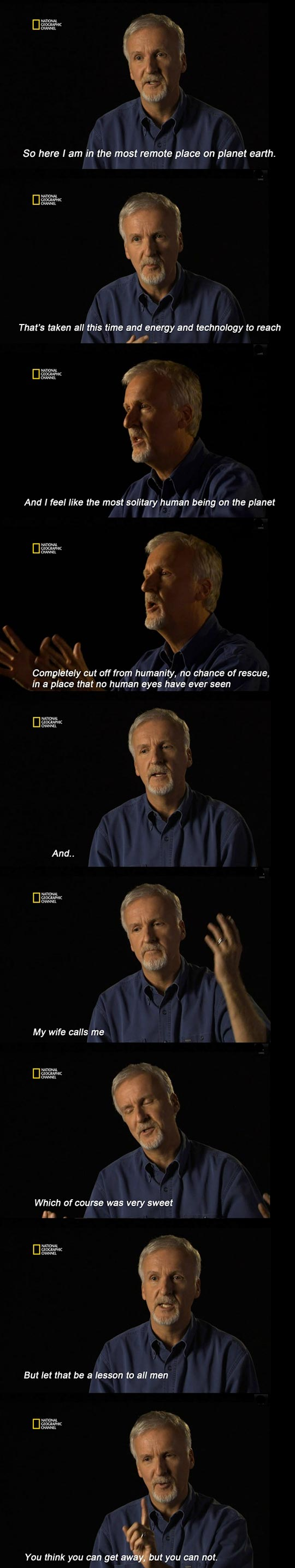 James Cameron's Hilarious Story