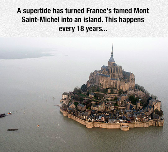 Saint-Michel-island-France-tide