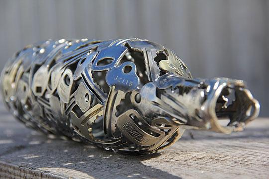 Unique Welded Keys Bottle