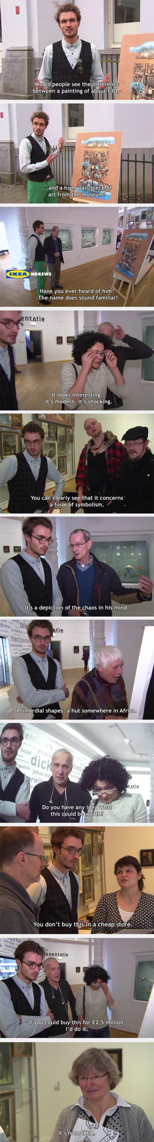 When You Put An Ikea Print In A Modern Art Museum