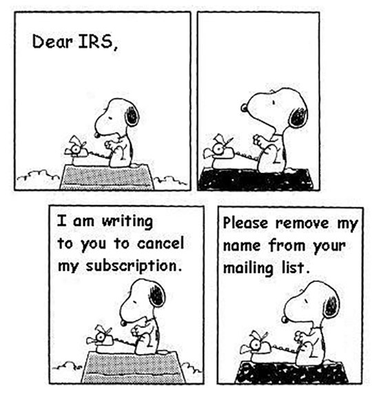 Letter To The IRS