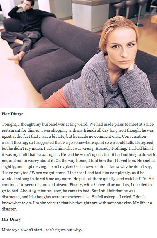 Male Vs. Female Thoughts