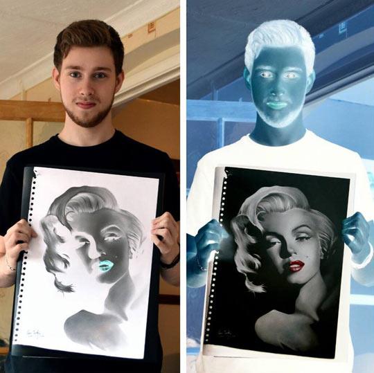 cool-negative-drawing-Marilyn-Monroe