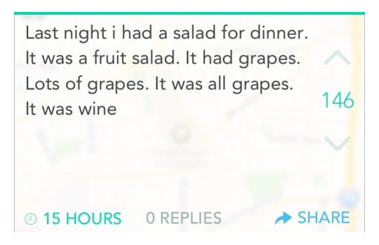 I Had Salad For Dinner