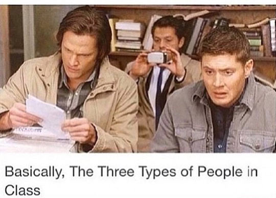 Types Of People In Class