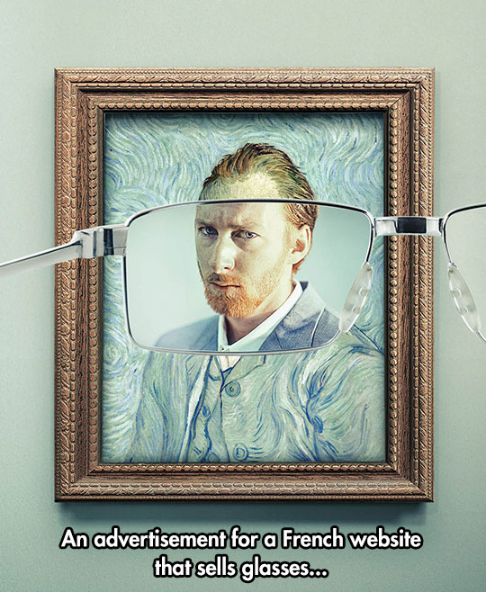Clever Ad For Glasses