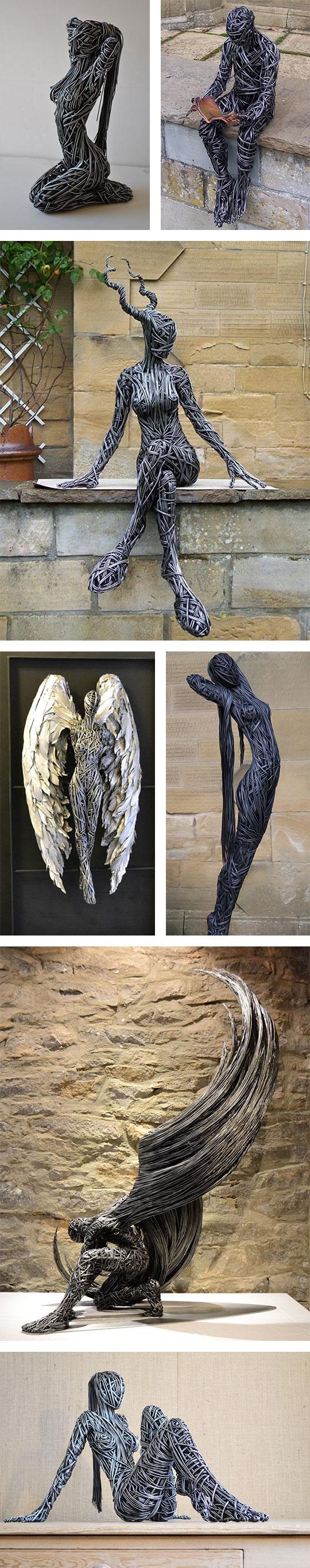 metallic-beings-sculptures