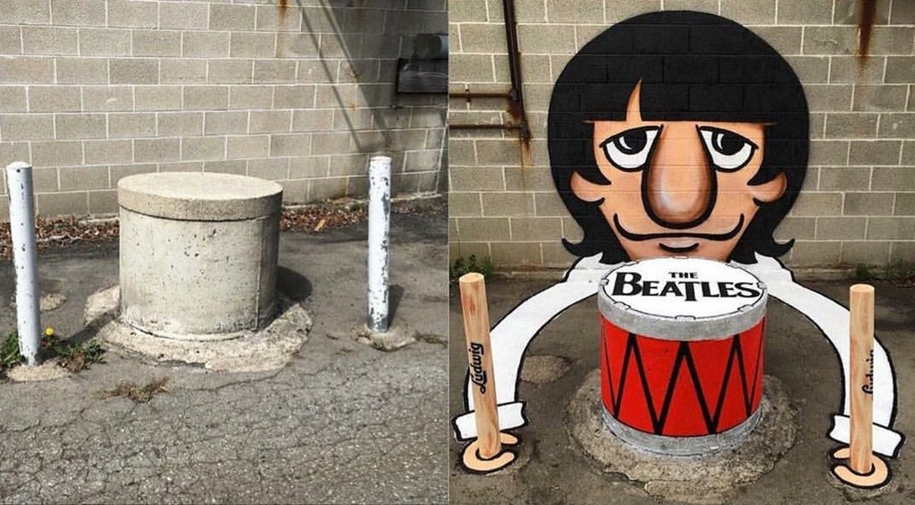 Before & After Ringo Starr Street Art