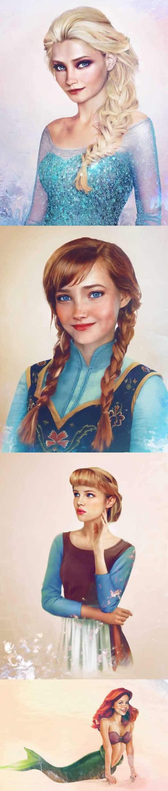 Realistic Disney Princesses
