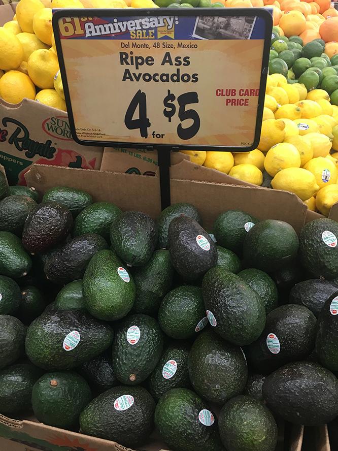 Really ripe avocados