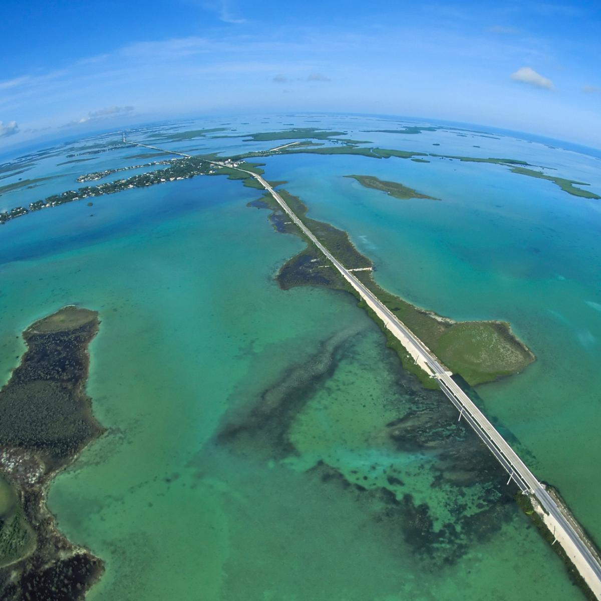 The Overseas Highway, 113-miles of bridges through the Florida Keys.