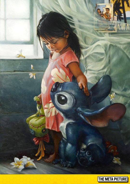 cool-Lilo-Stitch-girl-painting
