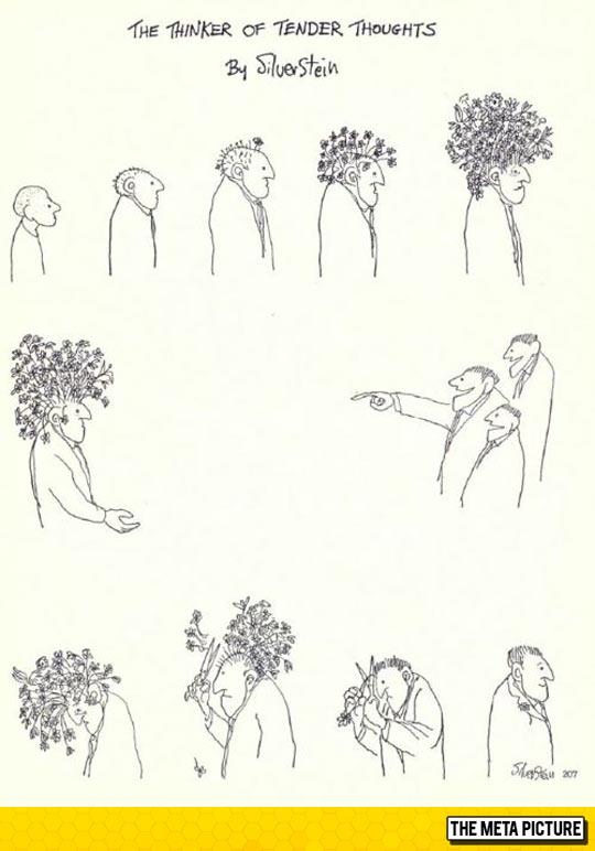 funny-cartoon-guy-flowers-head-thoughts-society
