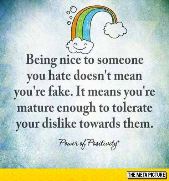 Being Nice To Someone You Don