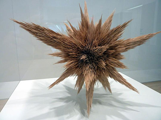 Sculpture made out of toothpicks
