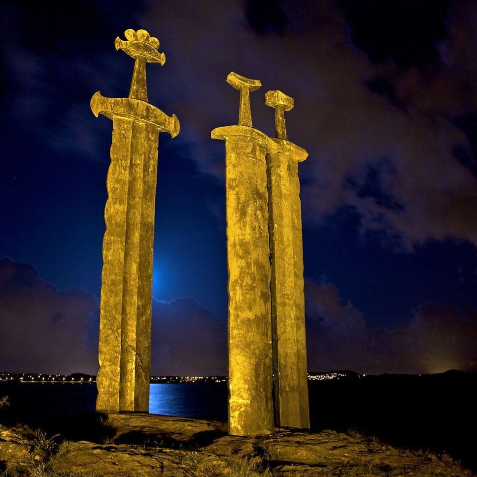 Sverd i fjell Giant Sword Monument in Norway