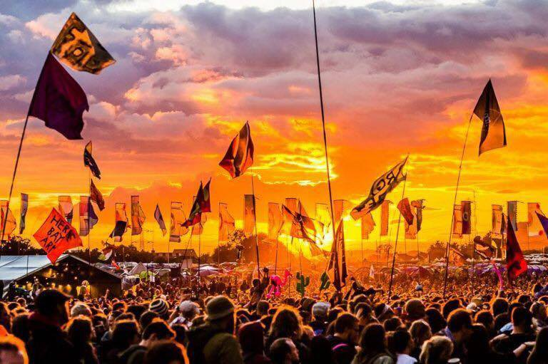 The sunset at Glastonbury Festival on Saturday was incredible