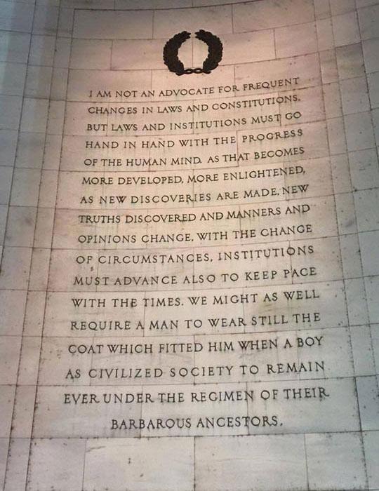 Thomas Jefferson Said This A Long Time Ago