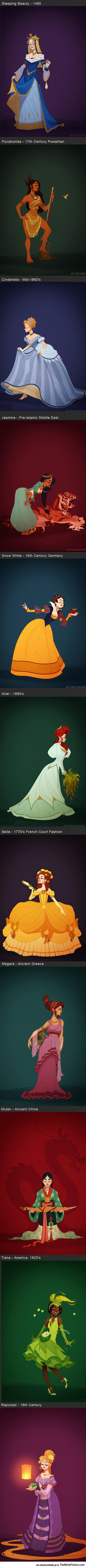 cool-Disney-Princesses-costume-drawing