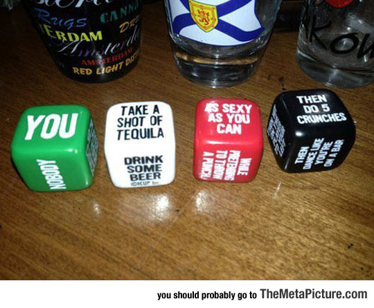 I Need This Dice Drinking Game