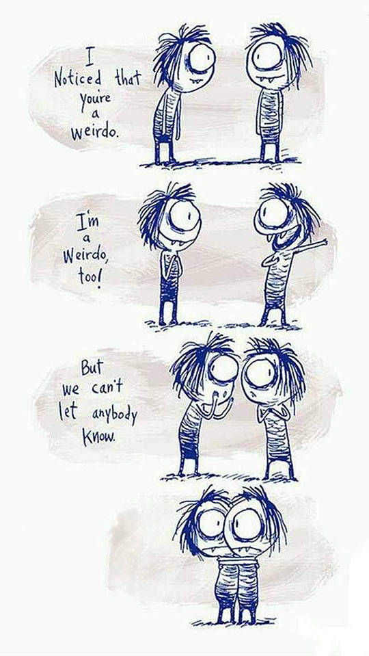 Being A Weirdo