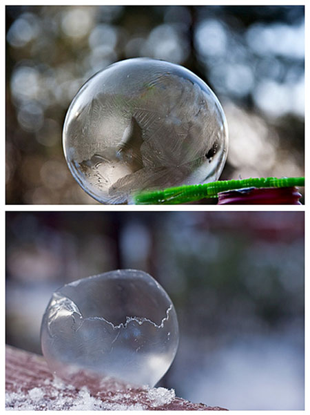 A frozen bubble