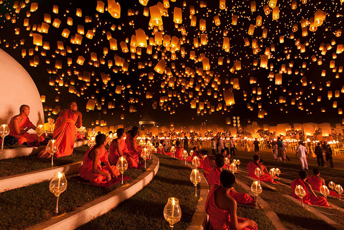 A lantern festival in Thailand