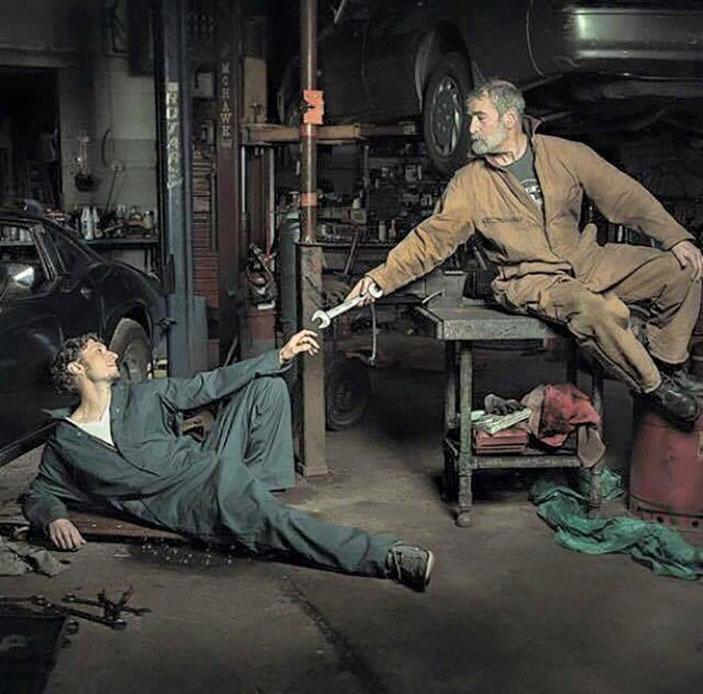 Auto repair in the Renaissance epoch
