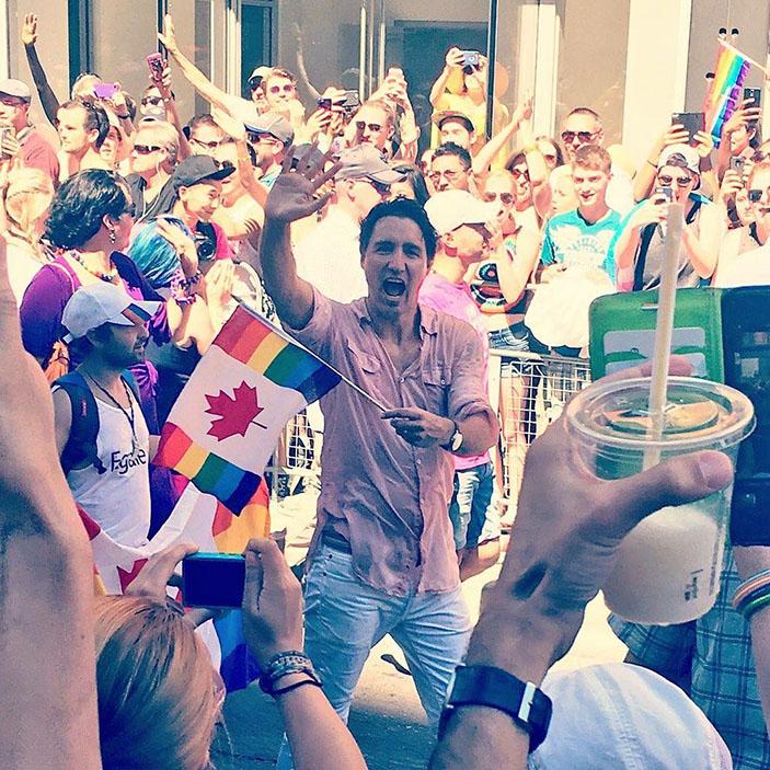 Canadian Prime Minister at Toronto Pride