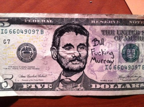Defacing US currency