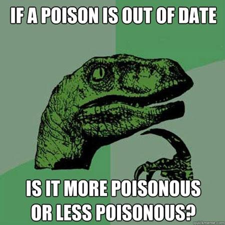 Expired poison