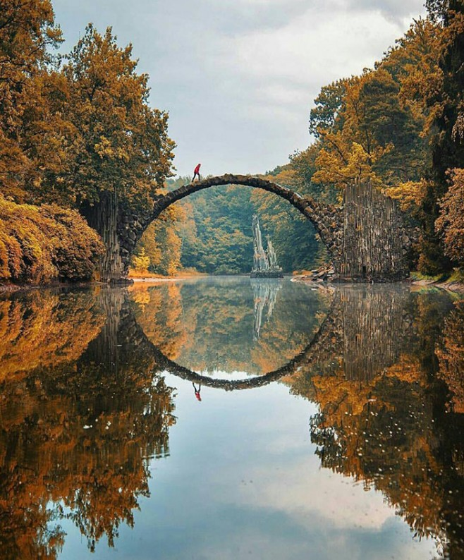 Beautiful And Extra Ordinary Picture: Kromlau Bridge, Germany