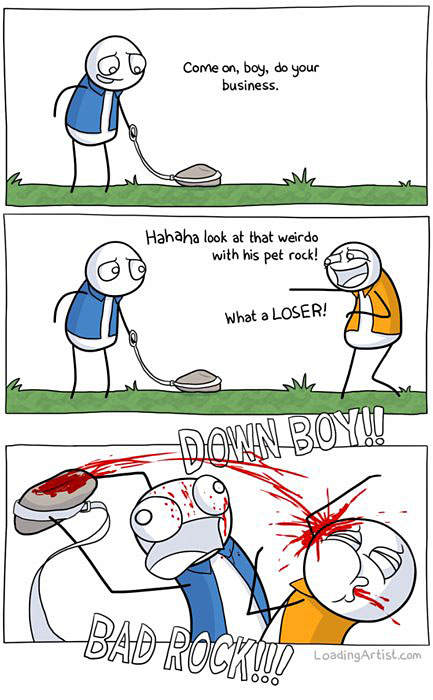 Pet rocks can be dangerous