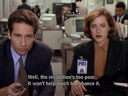 The X-Files was more realistic than CSI