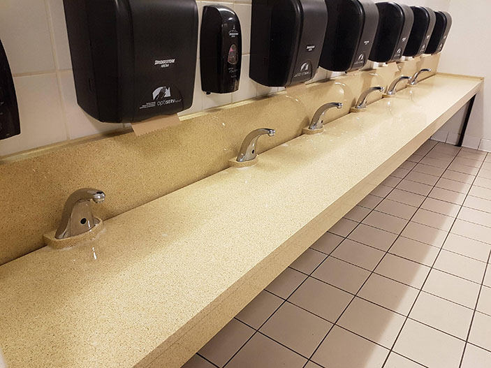 These sinks don't have any basins