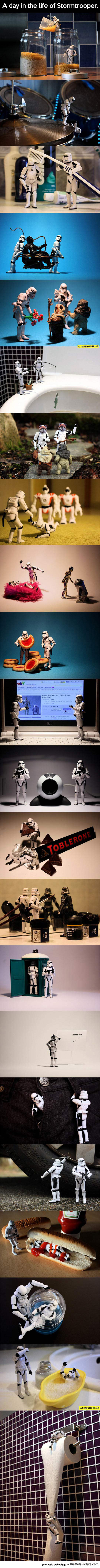 What A Stormtrooper Does On A Regular Day