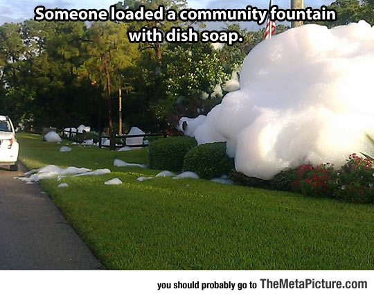cool-dish-soap-fountain
