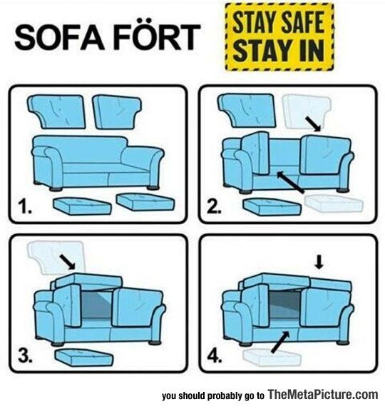 Ikea Sofa Fort