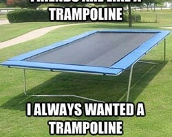 Friends Are Just Like Trampolines